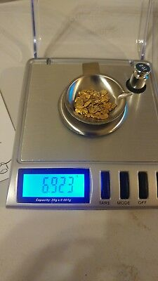 6.923 Grams of Gold Nuggets