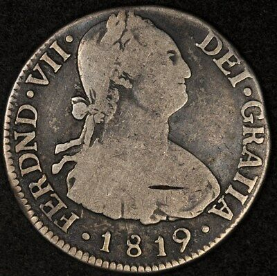 1819-Nr Jf Colombia 2 Reales Km-70.1 Vg/f