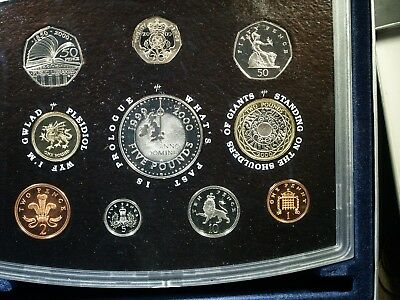 2000 UK Proof Set - Original box and COA