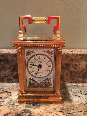 Halcyon Days Enamels Limited Edition Clock See Through Carriage