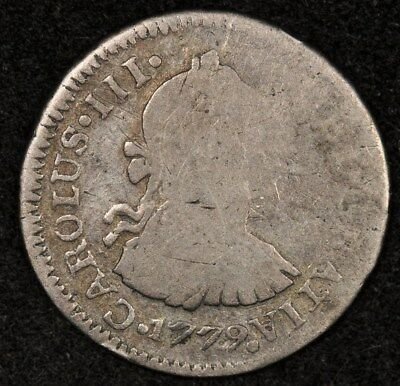 1779-Ng P Guatemala 1/2 Real Km-32.2 Rare Date Unknown To Harris Good+