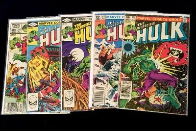 The Incredible Hulk #270,272-274&278 All Around VF Early Rocket Raccoon.