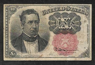 US Fractional Currency - 10 Cents Note - Series of 1874 - VF