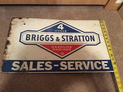 Vintage Briggs And Stratton Metal Sign