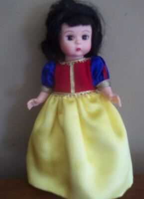 "SNOW WHITE disney MADAME ALEXANDER 8 "" hard plastic DOLL"