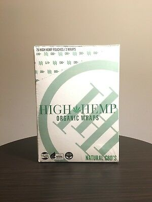 High Hemp Organic Wraps -- Original Hemp Flavor (50 Wraps & 50 Filters/Box)