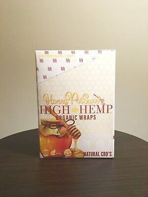 High Hemp Organic Wraps -- Honey Pot Swirl Flavor (50 Wraps & 50 Filters/Box)