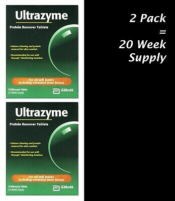 2 Pack of Abbott ULTRAZYME Weekly Protein Remover Tablets 10 Week Supply per Box