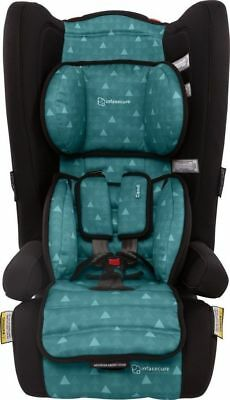Infasecure Comfi Treo Convertible Booster Car Seat 6M To 8Yrs Aqua Swirl