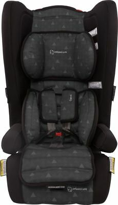 Infasecure Comfi Treo Booster Convertible Car Seat 6M To 8Yrs Ebony Swirl