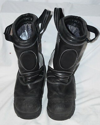 Globe Leather Firefighter Fire Boots Ems 10 1/2 10.5 Made In Usa!