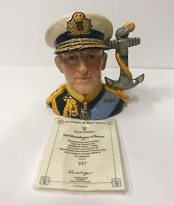 Royal Doulton Earl Mountbatten of Burma Limited Edition Toby Jug 337/5000 D6944