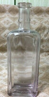 "Vintage Glass Medicine Apothecary Old Antique Bottle 7 1/2"" tall"