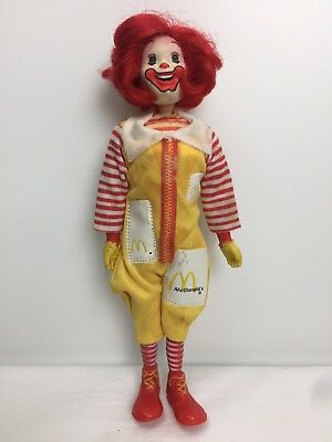 Vtg 1976 Remco RONALD MCDONALD Figure Original Clothing Metal Snaps Posable Head