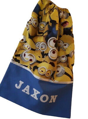 Personalised Library Bag / Book Bag - MINIONS -