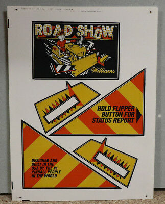 Road Show Williams Pinball Apron Decal Set