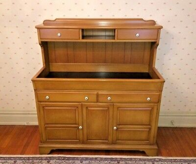 Antique Vtg Pennsylvania Pa Maple Wood Dry Sink Sideboard Buffet Farmhouse Decor