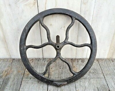 Antique Vtg Ornate Cast Iron Metal Sewing Machine Gear Pulley Wheel Steampunk