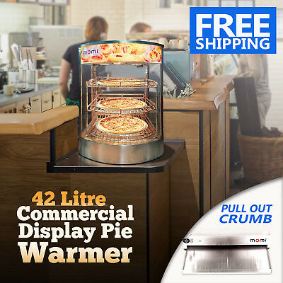 NEW 42L Commercial Display Pie Warmer Display Cabinet Hot Food Showcase