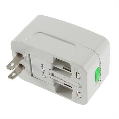 All in One International Travel Power Charger Universal Adapter AU/UK/US/EU RT