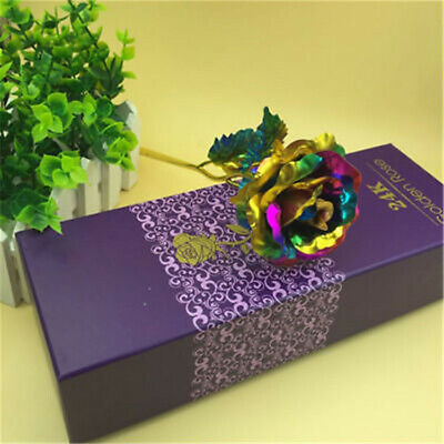 Multi-Color Gold Foil Rose Romantic Valentine's Day Mother Lover Friend Gift