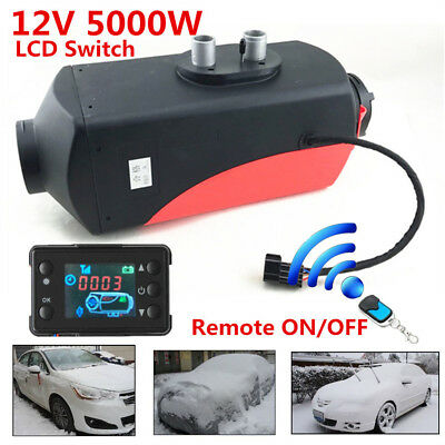 12V 5KW Diesel Fuel Air Heater LCD Monitor Car Truck Heating w/Remote Controller