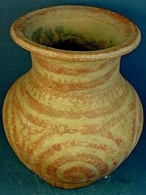 Large Ancient Thai Ben Chiang Middle Period Pottery Jar / Storage Vessel