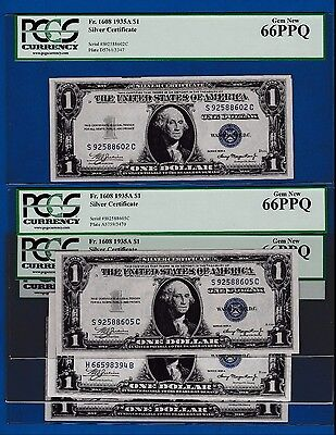 Fr.1608 $1  1935 A   SILVER CERTIFICATE H 66598394 B PCGS 66 BUY ONE NOTE OF 4