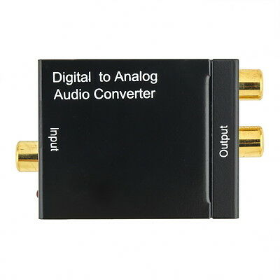 Pro RCA Digital Optical Toslink Signal to Analog Audio Converter Cable DAC PP