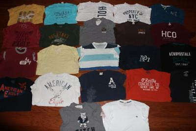 Lot Of 22 Abercrombie & Fitch Hollister Mens T Shirts American Eagle Tees Large