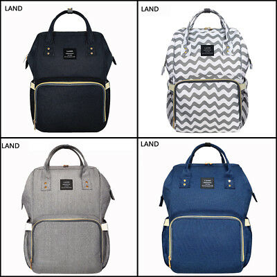 LAND FACTORY SALES Diaper Bag Baby Nappy Large Mummy Backpack Changing Bag