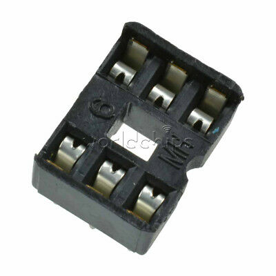 50PCS 6 Pin 6P IC Socket Adaptor for DIY PCB Solder Type DIP 6 Socket
