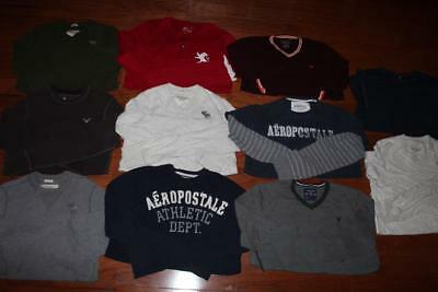 Lot Of 11 Abercrombie & Fitch Mens Long Sleeve Shirts Express Aero Henley Large