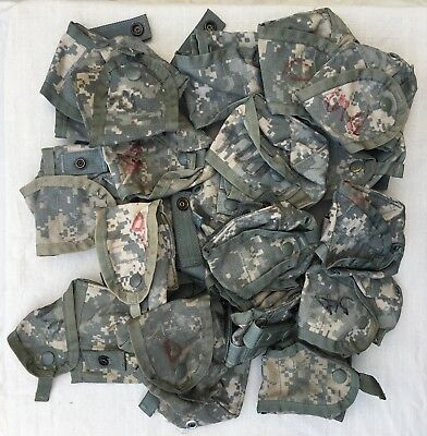LOT OF 20 MOLLE II ACU Pouch - Camouflage Hand Grenade/Small Item Snap On Pocket