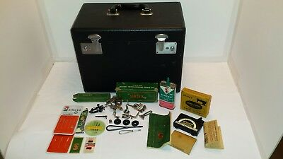 Near Mint Singer 221-1 Featherweight  Sewing Machine Complete Oil Can Tools Lube