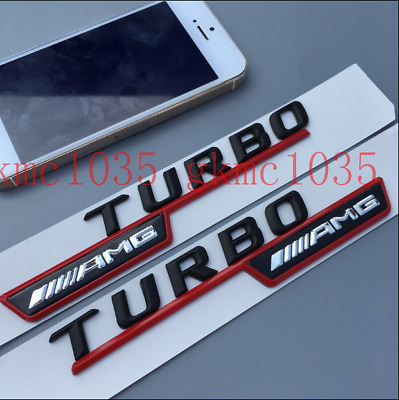 2pcs Trunk Letters AMG Edition 1 Emblem Multimedia Badge Sticker Edition 1