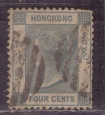 1863 British colony in China stamps, Hong Kong QV 4c used Wmk CCC SG 9