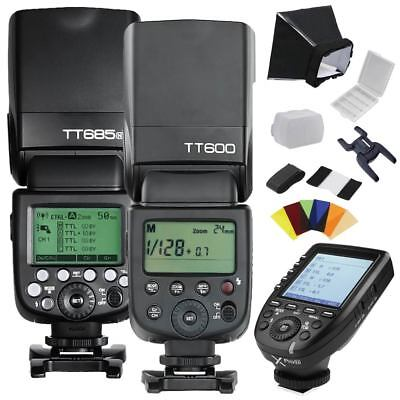 Godox TT685N TT600 Xpro-N 2.4G HSS Camera Flash Speedlite Kit for Nikon MI Shoe