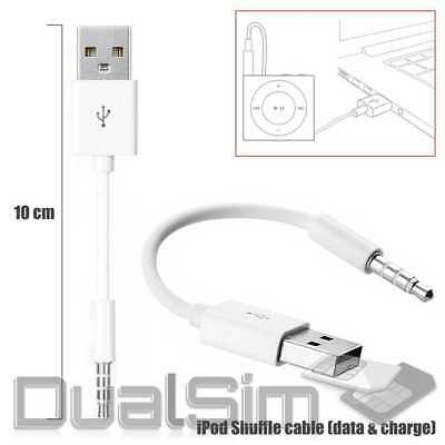 Für iPod Shuffle Gen 3/4/5/6/7 USB Ladekabel Daten Kabel Charger Cable Sync Weiß