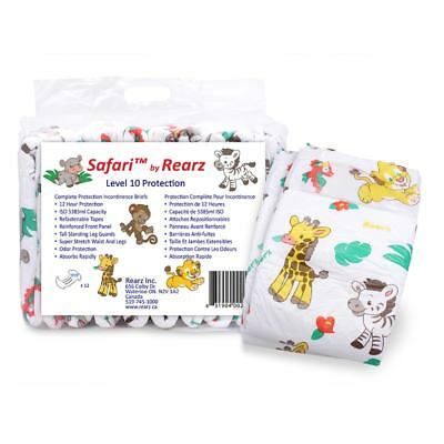 Adult Nappy / Diaper Rearz Safari - Small - Pack of 12