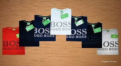 MEN's Genuine HUGO BOSS GreenCollection Wave Texture Crew Neck T-Shirt100%Cotton