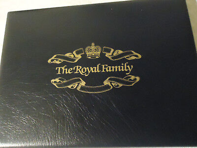 The Royal Family. Booklet with stamps.