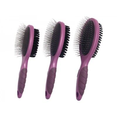 Rosewood Soft Protection Salon Grooming Double Sided Brush Remove Cat Dog Hair