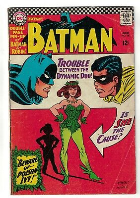 Batman 181 Dc comics poison Ivy 1st appearance no Pin up poster VG 4.5