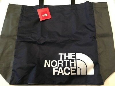 NWT The North Face Large Loop Tote Navy Blue Gray NEW Reusable Eco Travel Gym