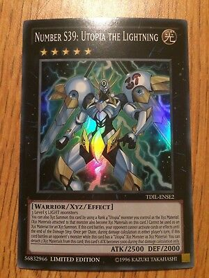 Yu-Gi-Oh! Number S39: Utopia the Lightning [TDIL-ENSE2] Super Rare NM