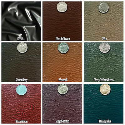 """Soft Wet Pu Cow Skin Faux Leather Jacket Auto Seats Sofa Upholstery Crafts 54""""W"""
