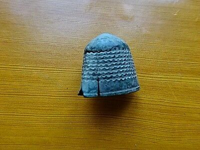 Ancient Antique Medieval Bronze Thimble.RARE