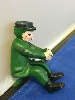 Antique cast iron fireman for fire truck or horse drawn, Hubley Arcade Kenton