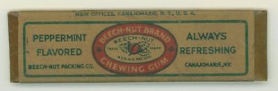 Vintage Beech-Nut Peppermint Chewing Gum Stick w Wrapper Canajoharie, NY